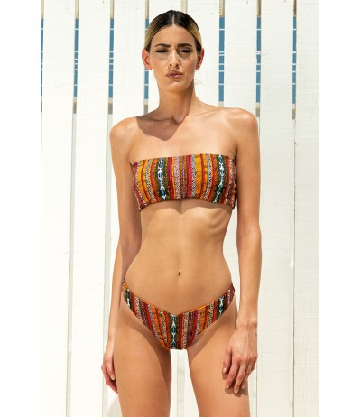 Bikini a fascia con stampa mixata maculata e multicolor linea Africa di Yes Your Everyday Superhero.