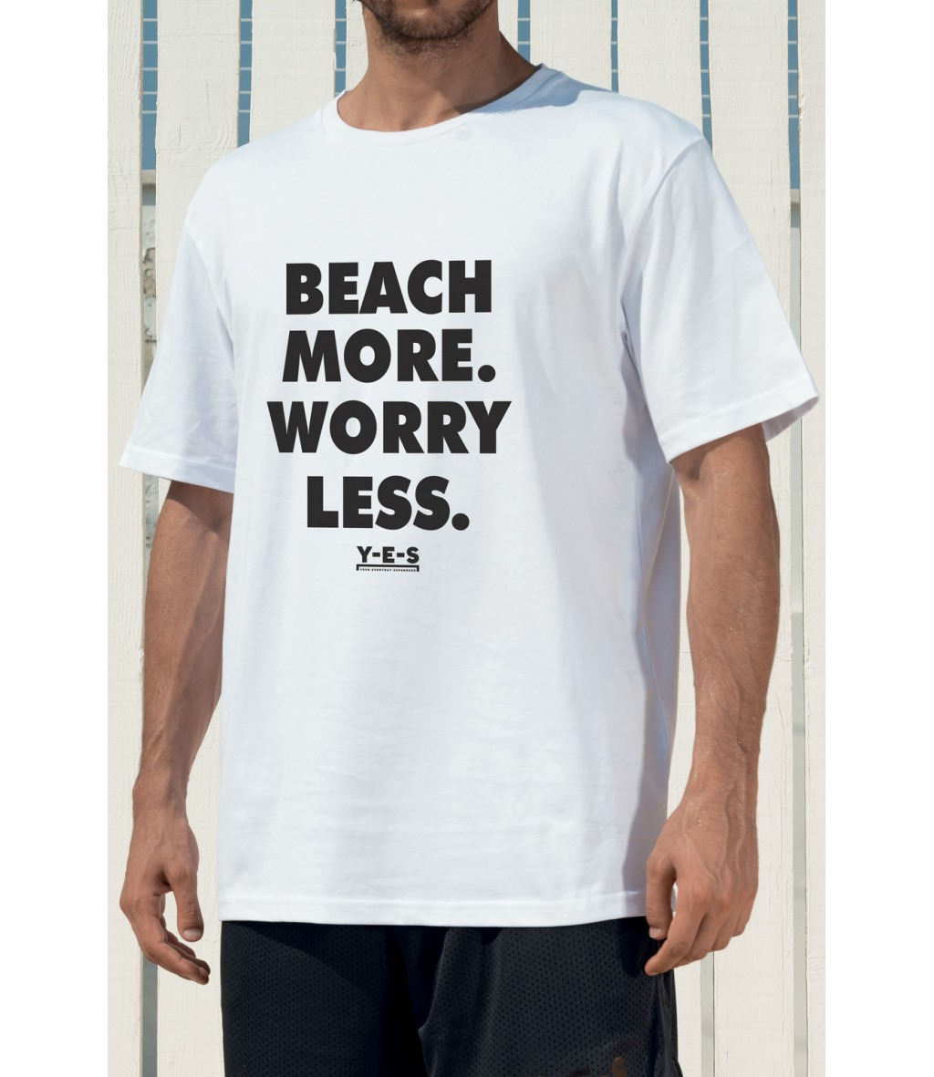 T-shirt in cotone girocollo bianca Yes Your Everyday Superhero con scritta stampata nera sul fronte.